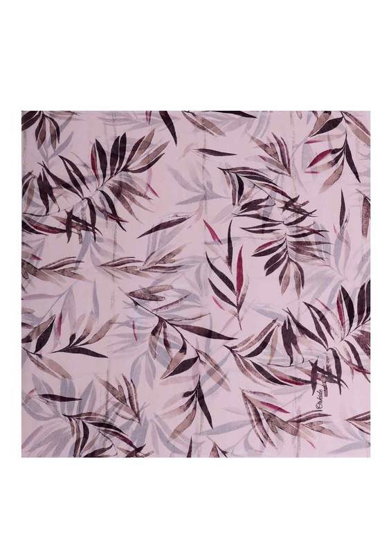 ORKİDE ŞAL - Orkide Yaprak Desenli Şifon Şal 743