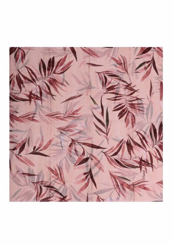 ORKİDE ŞAL - Orkide Yaprak Desenli Şifon Şal 745