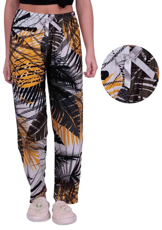 SİMİSSO - Palmiye Desenli Kadın Pijama Altı | Yeşil