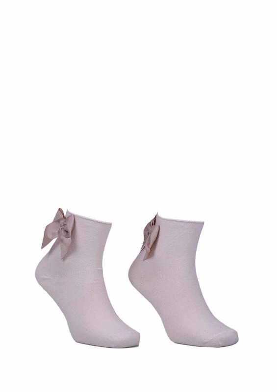 PAMELA - Kurdeleli Çorap 618 | Krem
