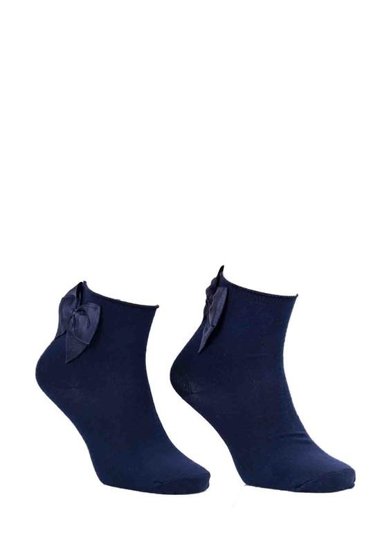PAMELA - Kurdeleli Çorap 618 | Lacivert
