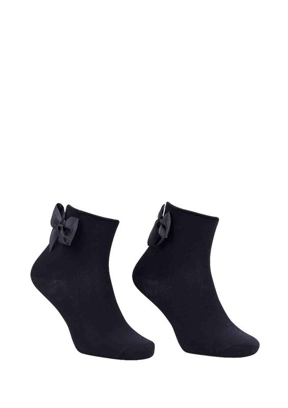 PAMELA - Kurdeleli Çorap 618 | Siyah