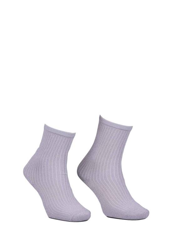 PAMELA - Sim Desenli Çorap 617 | Beyaz