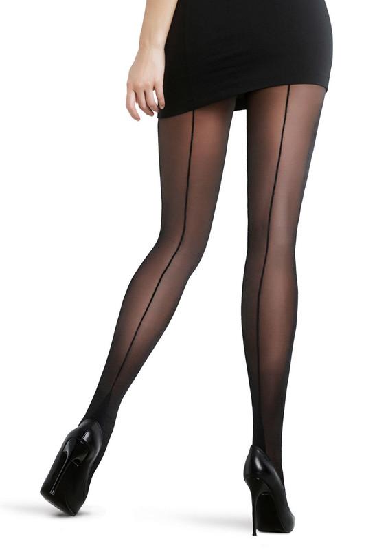 PENTİ - Penti Çizgili İnce Siyah Külotlu Çorap | Siyah