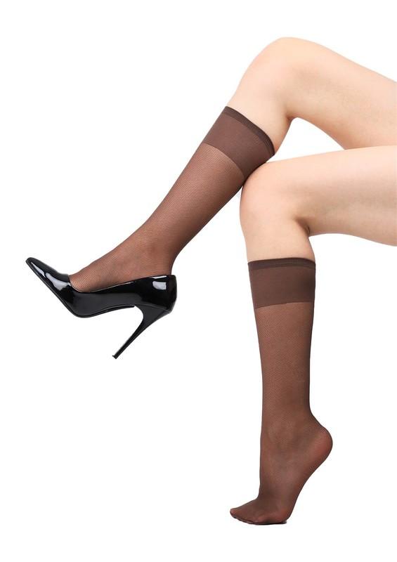 PENTİ - Penti Desenli Tül Pantolon Çorap | Kahverengi