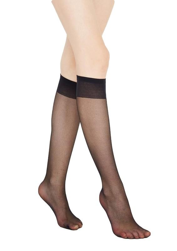 PENTİ - Penti Desenli Tül Pantolon Çorap | Siyah