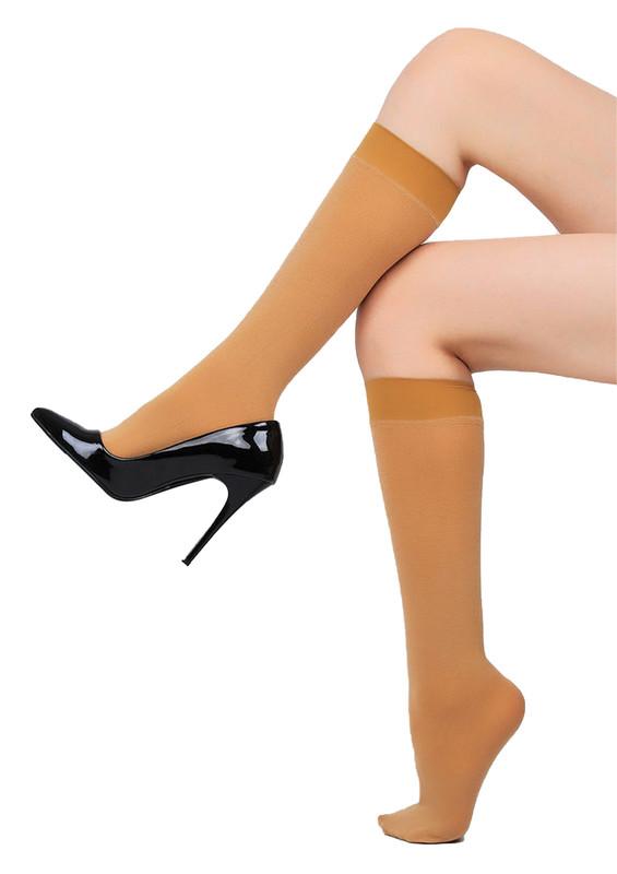 PENTİ - Penti Natural Extra Cotton Dizaltı Pantolon Çorap | Ten