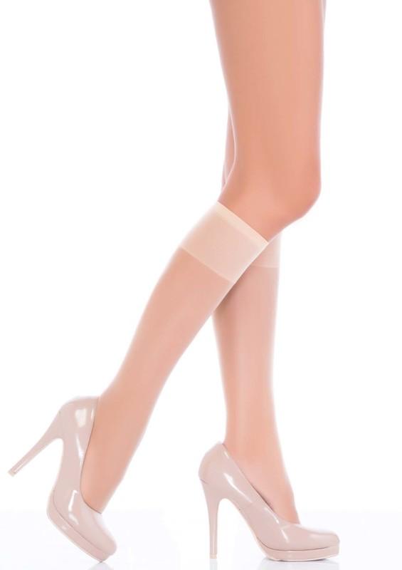 PENTİ - Penti Fit 15 Parlak İnce Dizaltı Pantolon Çorap | Krem