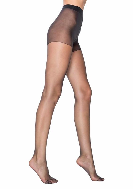 PENTİ - Penti Parlak Ten Rengi Külotlu Çorap Fit 15 | Siyah