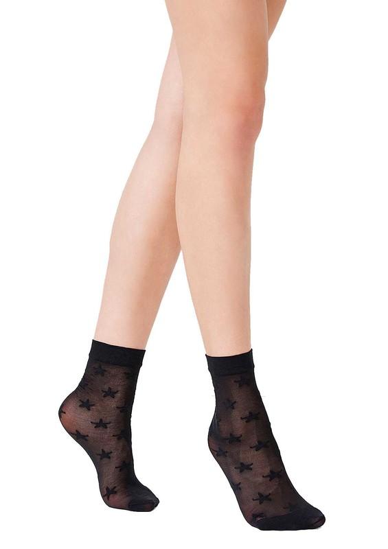 PENTİ - Penti Yıldızlı İnce Siyah Soket Çorap 059 | Siyah