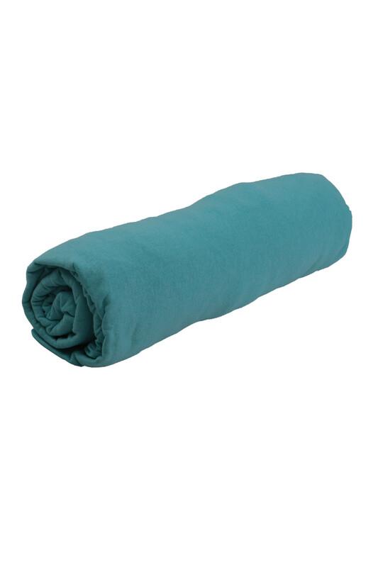 SİMİSSO - Penye Lastikli Çarşaf Battal Boy 200 x 200 cm   Bebe Mavi