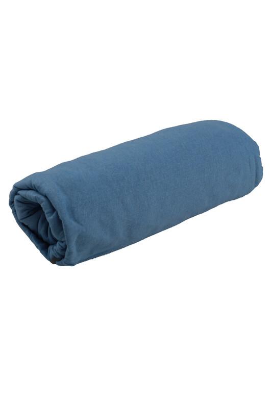 SİMİSSO - Penye Lastikli Çarşaf Çift Kişilik 160 x 200 cm   Mavi