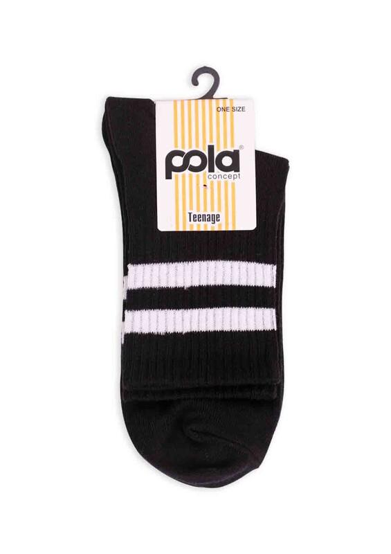 SİMİSSO - Pola Teenage Kadın Soket Çorap | Siyah