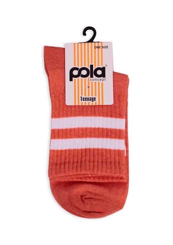 SİMİSSO - Pola Teenage Kadın Soket Çorap | Turuncu