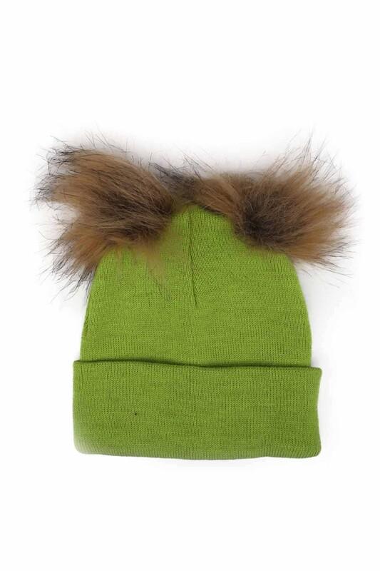 POYRAZ - Ponponlu Kız Çocuk Bere | Fıstık Yeşili
