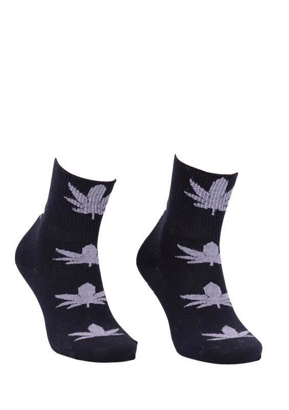 PRO - Pro Kaktüs Penye Çorap 25610   Siyah