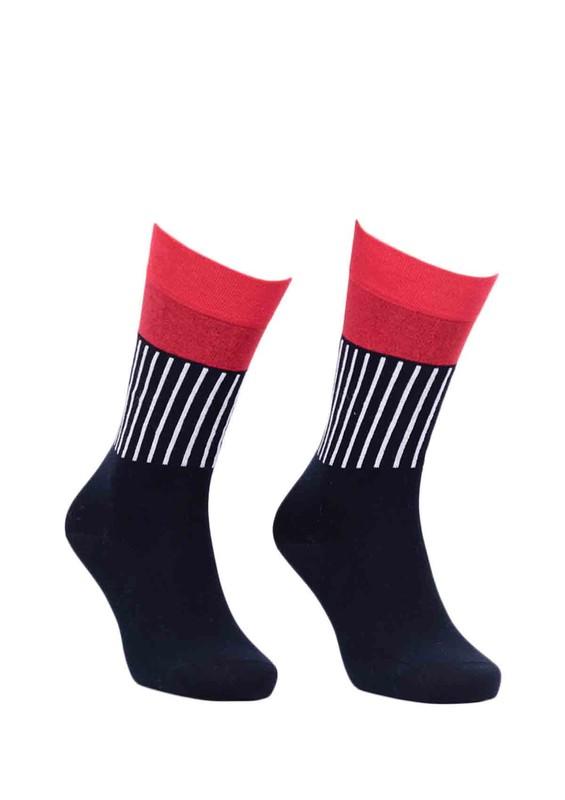 PRO - Pro Sokrates Çizgili Penye Unisex Çorap 11004   Kırmızı