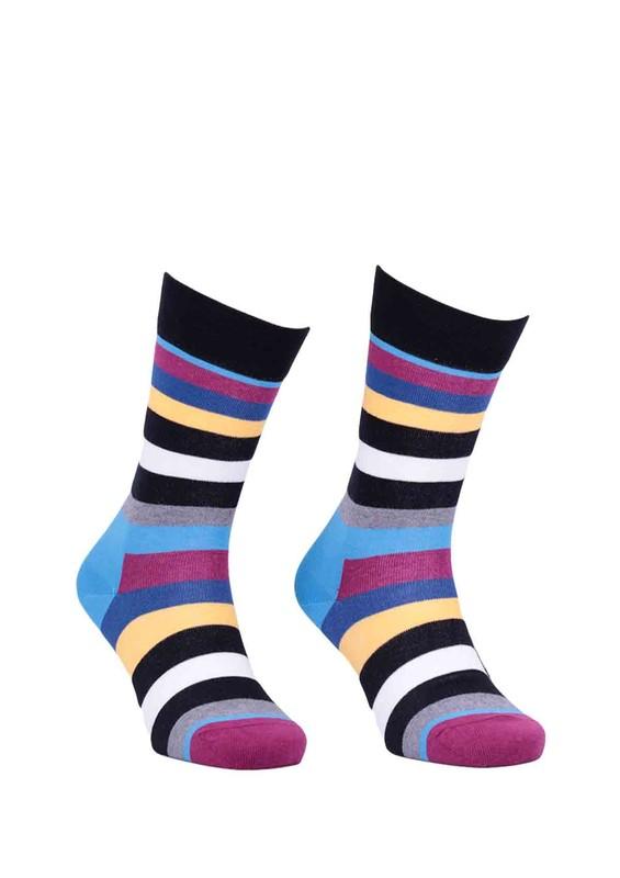 PRO - Pro Sokrates Çizgili Unisex Penye Çorap 11004   Mavi