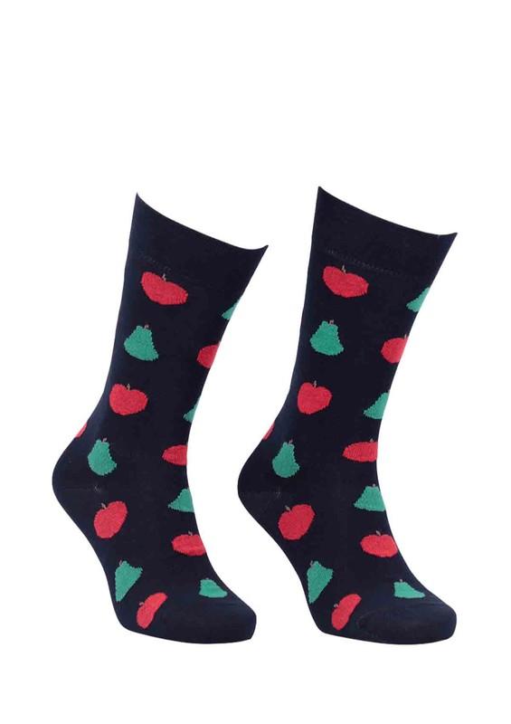 PRO - Pro Thales Meyve Desenli Unisex Penye Çorap 11005   Siyah