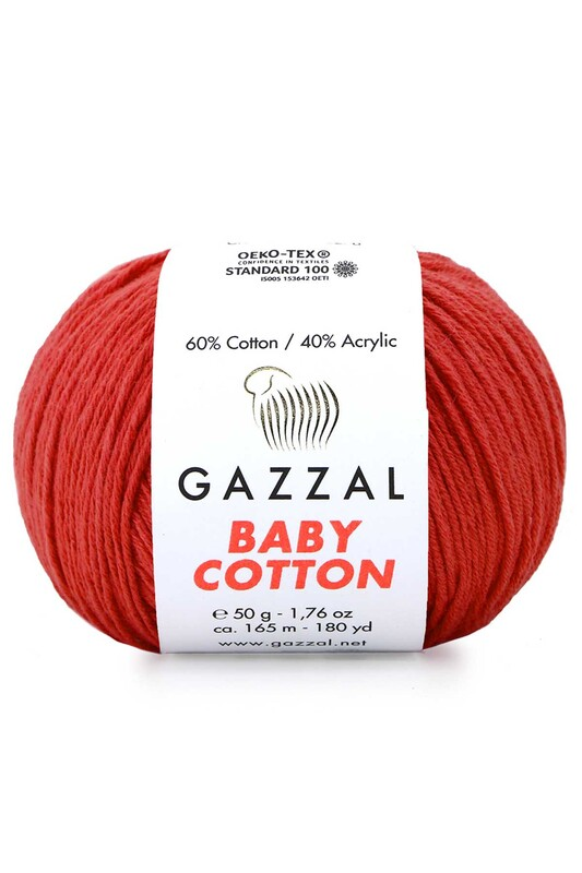 Пряжа Gazzal Baby Cotton 50гр./3418 - Thumbnail