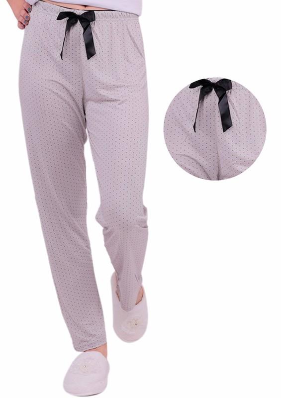 ARCAN - Puantiye Desenli Pijama Altı 20105   Kahverengi