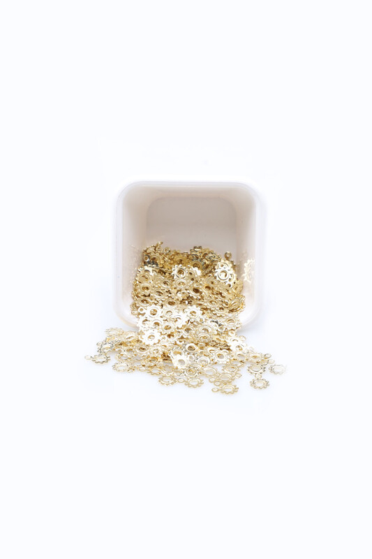 PULSAN - Pulsan Demir Pul Altın Kulplu Çiçek 003 23 gr