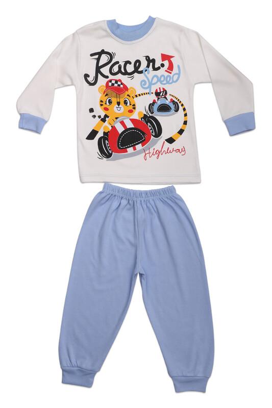 BİLKON - Racer Baskılı Bebek 2'li Takım | Mavi