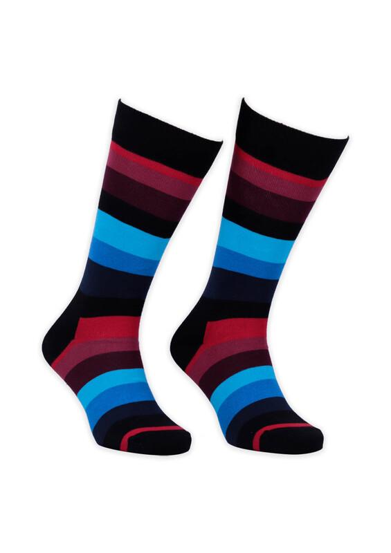 SİMİSSO - Renkli Çizgili Kadın Çorap 003