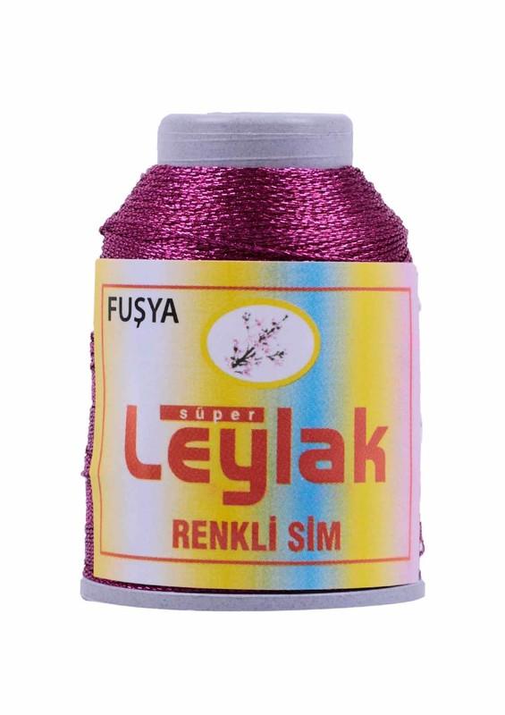 LEYLAK - Нить-кроше Leylak с блестками/фуксия