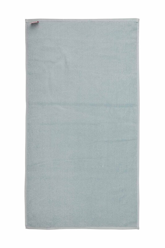 SİMİSSO - Düz Kadife Havlu 50*90 cm | Mavi