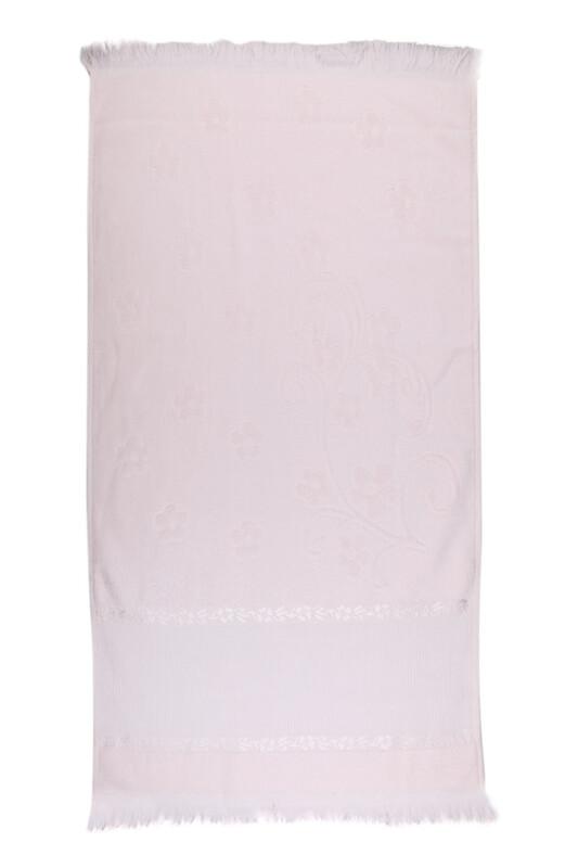 RÜYA - Rüya Pırıltı Saçaklı İşlemelik Havlu 50*90 cm | Somon