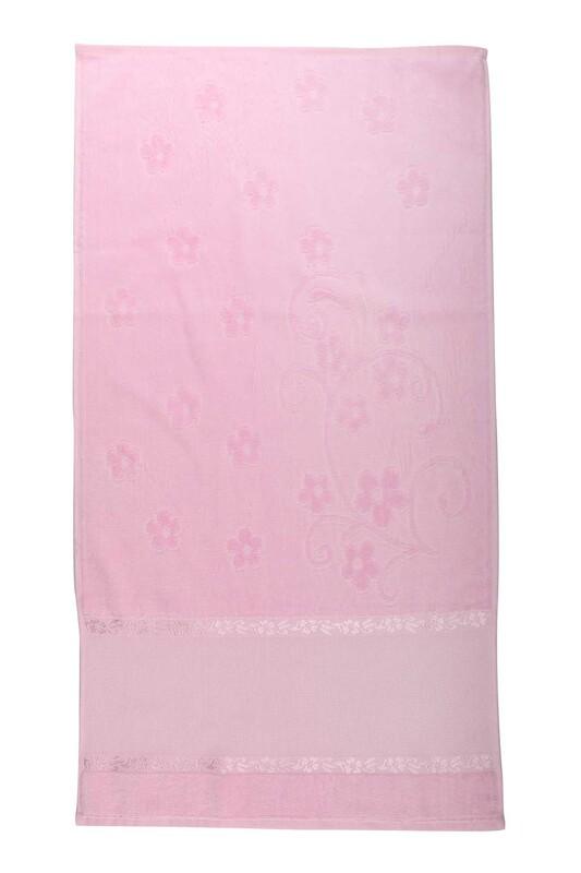 RÜYA - Rüya Pırıltı Saçaksız İşlemelik Havlu 50*90 cm | Pembe