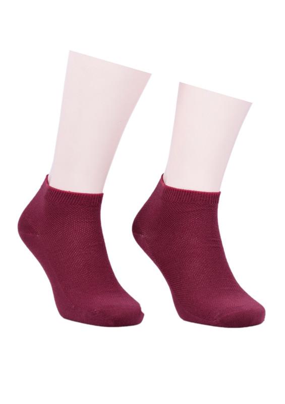 SAHAB - Sahab Bambu Soket Çorap | Bordo