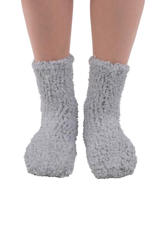 SAHAB - Sahab Kadın Örme Uyku Çorabı 30800   Açık Gri