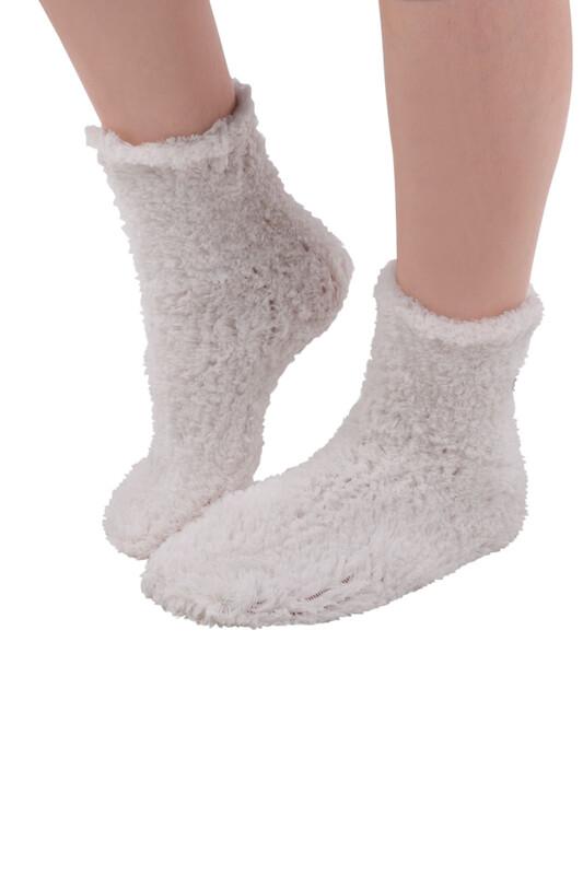 SAHAB - Sahab Kadın Örme Uyku Çorabı 30800 | Ekru