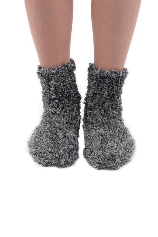 SAHAB - Sahab Kadın Örme Uyku Çorabı 30800   Füme