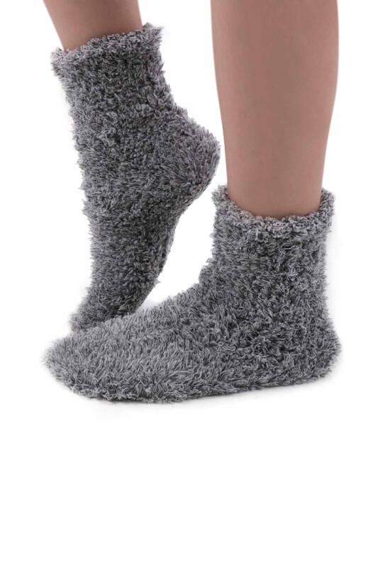 SAHAB - Sahab Kadın Örme Uyku Çorabı 30800 | Gri