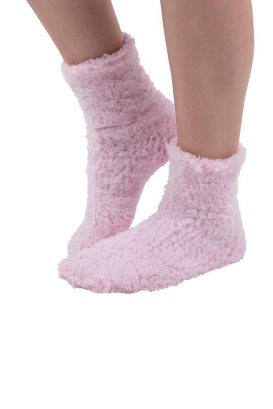 SAHAB - Sahab Kadın Örme Uyku Çorabı 30800 | Pembe