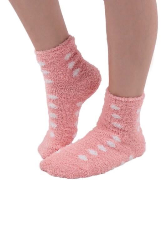 SAHAB - Sahab Kadın Peluşlu Patik Çorap 48500   Pudra