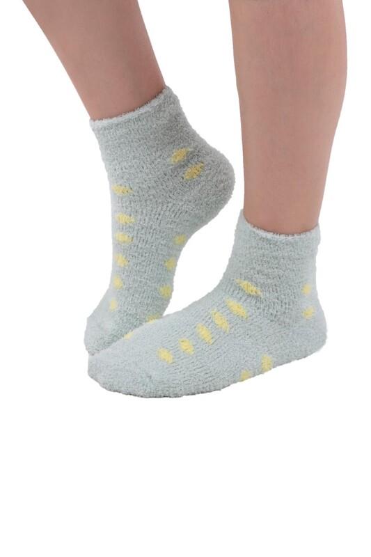 SAHAB - Sahab Kadın Peluşlu Patik Çorap 48500 | Su Yeşili
