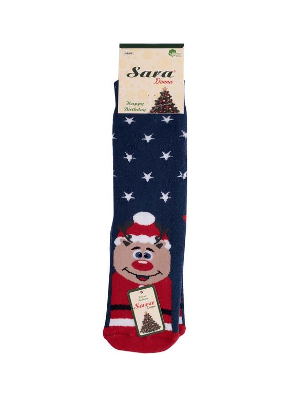 SARA DONNA - Yıldızlı Baskılı Lacivert Çorap 953 | Lacivert
