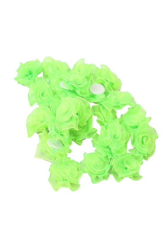 SEVİNÇ - Sevinç Organze Tülden Gül | Yeşil