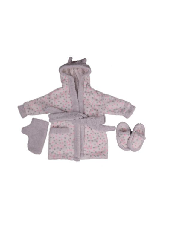 SİMİSSO - Simisso Baby Bebek Bornoz Takımı 11994 | Pembe