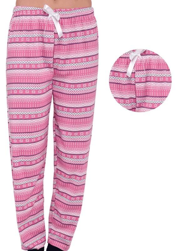 SİMİSSO - Simisso Boru Paça Desenli Pembe Pijama Altı 155 | Pembe