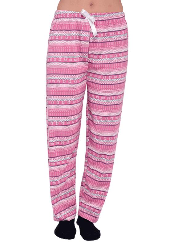 SİMİSSO - Simisso Boru Paça Desenli Pembe Pijama Altı 155   Pembe