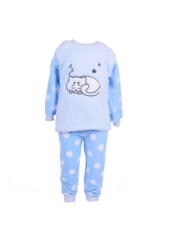 SİMİSSO - Simisso Çocuk Polar Pijama Takımı 284   Mavi