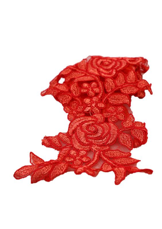 SİMİSSO - Simisso Güpür Aplike 136 | Kırmızı
