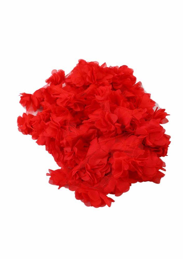 Simisso Lazer Kesim Çiçek 656   Kırmızı