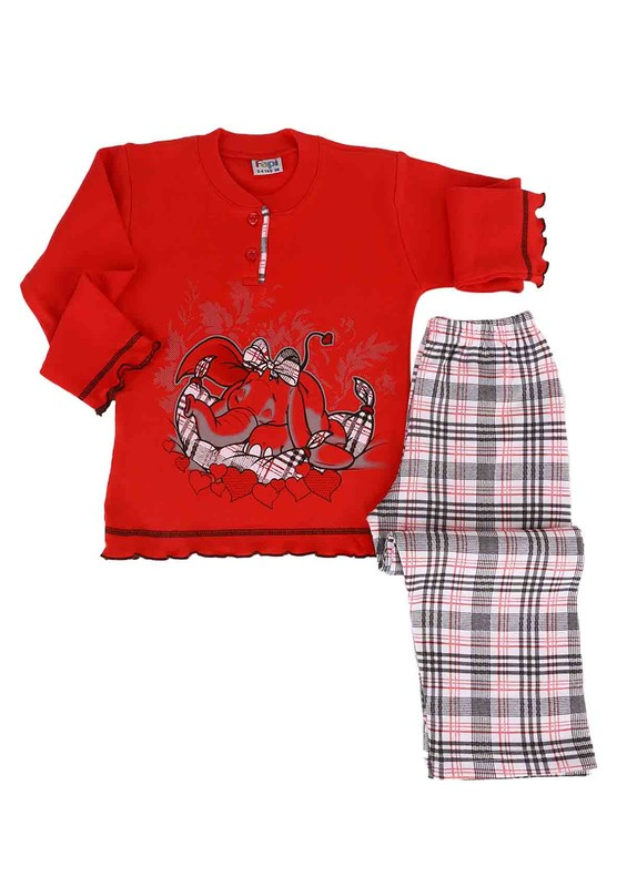 SİMİSSO - Simisso Pijama Takımı 021   Kırmızı