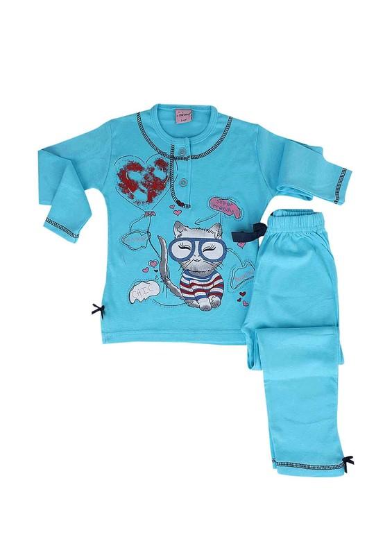 SİMİSSO - Simisso Pijama Takımı 7605   Mavi